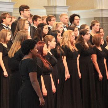 concert choir sining