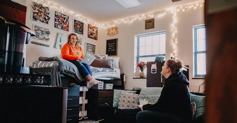 Girls in dorm room